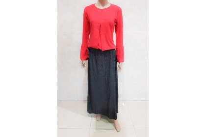 PLUS SIZE SOFT JEANS SKIRT [9003]