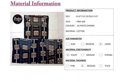 FST Baju Kaftan Baju Kelawar Viral (Kaftan Dubai) Corak Menarik [6107]
