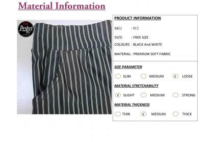 FST Stripe Palazzo Pant With Pockets/ Palazo Belang Pokets [912]