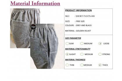 FST 100% Velvet Cotton Casual Shorts Men's Pants Shorts