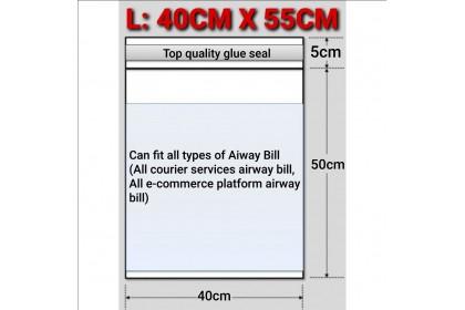 FST [50 pcs] L (40CM X 55CM) A3 Courier Bag With Pocket Packaging Plastic Bag   Kurier 快遞袋 Parcel Flyers Flyer