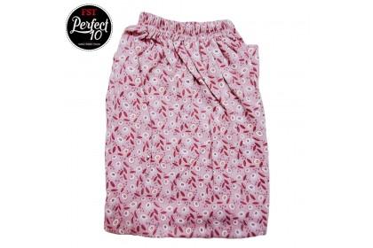 FST 100% Cotton Full Print Design Long Pants Pyjamas Pants Sleeping pants / Seluar Bunga Tebal Panjang [6188]