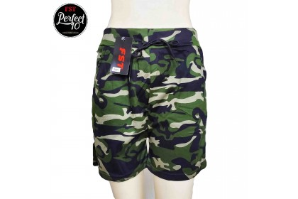FST Women's Quality High Waist Casual Army Print Shorts Pant [3991]