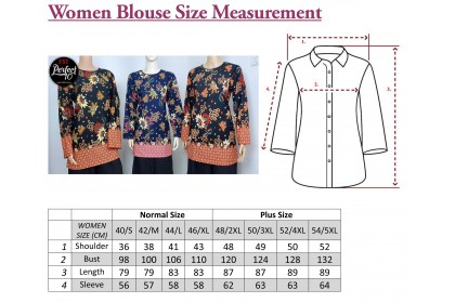FST Muslimah S-5XL Plus Size Zip Flora Batik Long Sleeve Fashion Blouse Baju Raya 2021 [757_4]