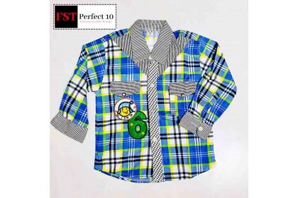 FST Kids Casual Shirt Long Sleeve Clothing / Kemeja Budak [101]