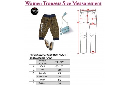 FST Soft Quarter Pants With Pockets and Front Rope [S702]