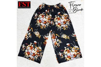 FST Plus Size Flower Palazzo Pant /  Palazzo Besar Labuh Corak Batik [1050 Flower]