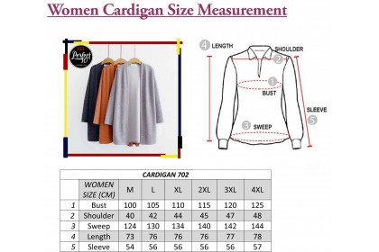 FST Women Long Sleeve Cardigan Dress Tops Clothes Sun Protection / Baju Kardigan Lengan Panjang 2 [702]