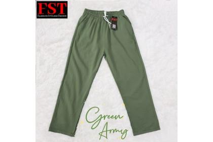 【Ready Stock】FST New Fashion Women Long Trousers Palazo Female Cotton Linen Loose Casual Pants Plus Size Seluar Cotton