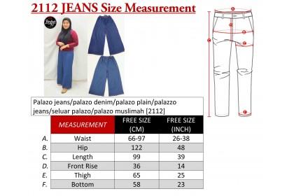 Palazo jeans/palazo denim/palazo plain/palazzo jeans/seluar palazo/palazo muslimah [2112]