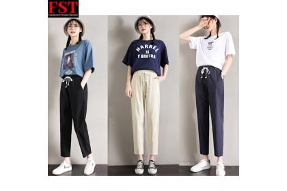 FST Fashion Women Long Trousers Palazo Laici Female Cotton Loose Casual Pants Plus Size Linen [Cotton Linen-899]