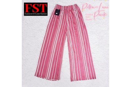 FST Plus Size Colour Polkadot Palazzo / Palazo Bintik Labuh Besar [1050_PolkaDot]