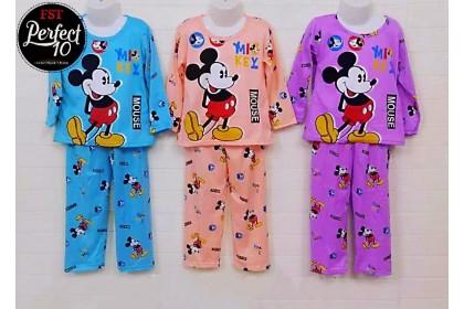 FST Kids Pyjamas Children Sleepwear Soft Milk Silk / Baju Tido Budak Suit Budak Baju Tidur Kanak Set Long Sleeve